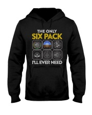 AVIATION PILOT GIFT - SIX PACK Hooded Sweatshirt thumbnail