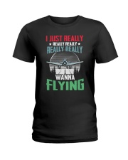 AVIATION RELATED GIFTS - FLYING PASSION Ladies T-Shirt thumbnail