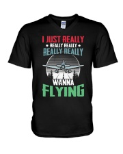 AVIATION RELATED GIFTS - FLYING PASSION V-Neck T-Shirt thumbnail