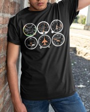AVIATION PILOT GIFT - AIRPLANE BASIC INSTRUMENTS Classic T-Shirt apparel-classic-tshirt-lifestyle-27