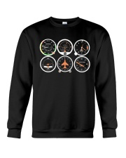 AVIATION PILOT GIFT - AIRPLANE BASIC INSTRUMENTS Crewneck Sweatshirt thumbnail