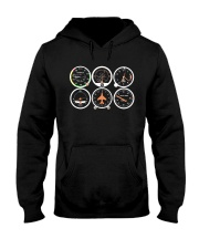 AVIATION PILOT GIFT - AIRPLANE BASIC INSTRUMENTS Hooded Sweatshirt tile