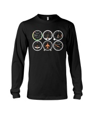 AVIATION PILOT GIFT - AIRPLANE BASIC INSTRUMENTS Long Sleeve Tee tile