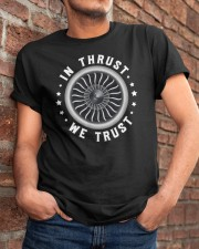 AVIATION LOVERS - IN THRUST WE TRUST Classic T-Shirt apparel-classic-tshirt-lifestyle-26