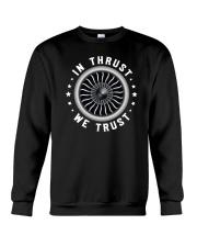 AVIATION LOVERS - IN THRUST WE TRUST Crewneck Sweatshirt thumbnail