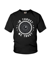 AVIATION LOVERS - IN THRUST WE TRUST Youth T-Shirt thumbnail