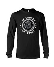 AVIATION LOVERS - IN THRUST WE TRUST Long Sleeve Tee thumbnail