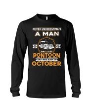 PONTOON BOAT GIFT - OCTOBER PONTOON MAN Long Sleeve Tee thumbnail