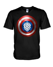 BREWE BREWERY CLOTHING - HOP SHIELD V-Neck T-Shirt thumbnail