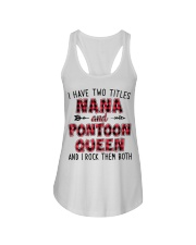 PONTOON BOAT GIFT - TWO TITLES NANA AND QUEEN Ladies Flowy Tank thumbnail