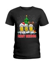 B - MERRY CHRISTMAS Ladies T-Shirt thumbnail