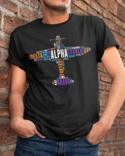 PILOT GIFT - THE AVIATION COLORFUL ALPHABET  Classic T-Shirt apparel-classic-tshirt-lifestyle-26