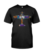 PILOT GIFT - THE AVIATION COLORFUL ALPHABET  Classic T-Shirt front