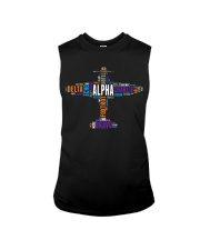 PILOT GIFT - THE AVIATION COLORFUL ALPHABET  Sleeveless Tee thumbnail