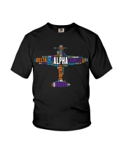 PILOT GIFT - THE AVIATION COLORFUL ALPHABET  Youth T-Shirt thumbnail