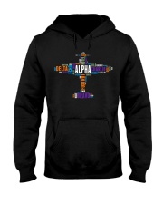 PILOT GIFT - THE AVIATION COLORFUL ALPHABET  Hooded Sweatshirt thumbnail