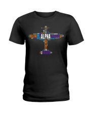 PILOT GIFT - THE AVIATION COLORFUL ALPHABET  Ladies T-Shirt thumbnail