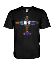 PILOT GIFT - THE AVIATION COLORFUL ALPHABET  V-Neck T-Shirt thumbnail
