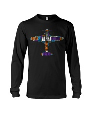 PILOT GIFT - THE AVIATION COLORFUL ALPHABET  Long Sleeve Tee thumbnail