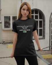 FUNNY FLYING PLANE - TURN ON AIRPLANE MODE Classic T-Shirt apparel-classic-tshirt-lifestyle-19