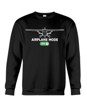 FUNNY FLYING PLANE - TURN ON AIRPLANE MODE Crewneck Sweatshirt thumbnail