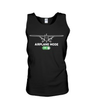 FUNNY FLYING PLANE - TURN ON AIRPLANE MODE Unisex Tank thumbnail