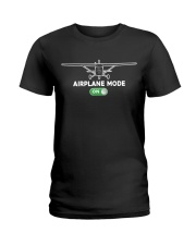 FUNNY FLYING PLANE - TURN ON AIRPLANE MODE Ladies T-Shirt tile