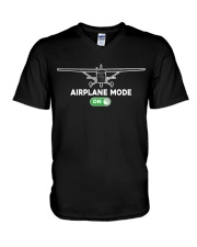 FUNNY FLYING PLANE - TURN ON AIRPLANE MODE V-Neck T-Shirt tile