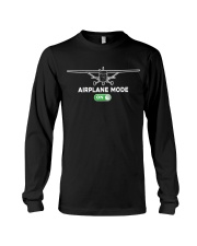 FUNNY FLYING PLANE - TURN ON AIRPLANE MODE Long Sleeve Tee thumbnail