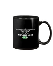 FUNNY FLYING PLANE - TURN ON AIRPLANE MODE Mug tile