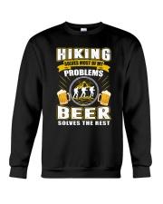 CRAFT BEER LOVER - BEER AND HIKING Crewneck Sweatshirt thumbnail