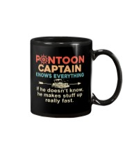 PONTOON BOAT GIFTS - CAPTAIN KNOWS EVERYTHING Mug thumbnail