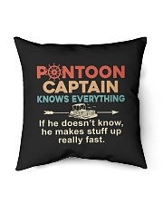 "PONTOON BOAT GIFTS - CAPTAIN KNOWS EVERYTHING Indoor Pillow - 16"" x 16"" thumbnail"