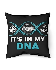 """PONTOON BOAT GIFT - IT'S IN MY DNA Indoor Pillow - 16"""" x 16"""" thumbnail"""