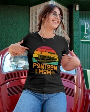PONTOON BOAT GIFT - PONTOON MOM Ladies T-Shirt apparel-ladies-t-shirt-lifestyle-01