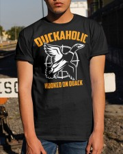 DUCKAHOLIC HOOKED ON QUACK Classic T-Shirt apparel-classic-tshirt-lifestyle-29