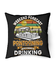 "PONTOON LOVER - CHANCE OF DRINKING Indoor Pillow - 16"" x 16"" thumbnail"