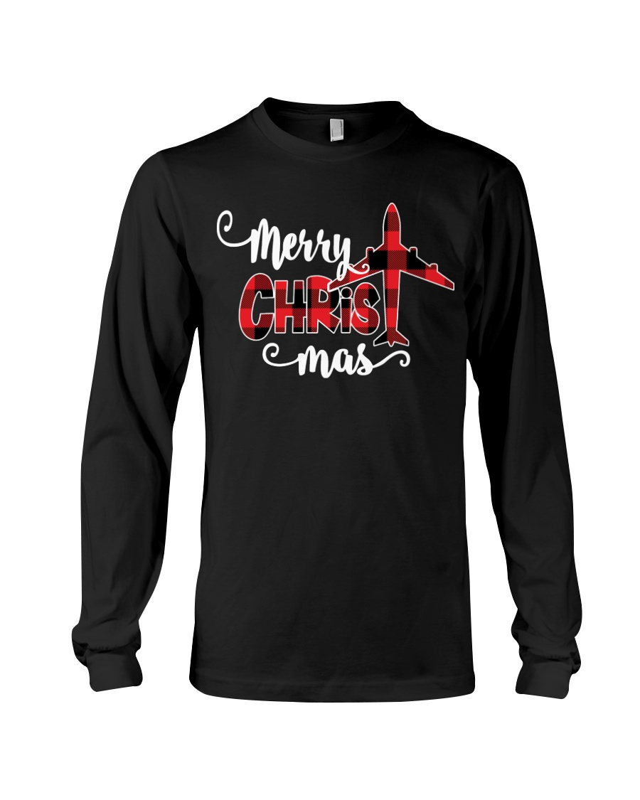 AVIATION PILOT GIFT - MERRY CHRISTMAS Long Sleeve Tee