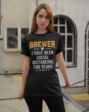 BREWER I HAVE BEEN SOCIAL DISTANCING FOR YEARS Classic T-Shirt apparel-classic-tshirt-lifestyle-19