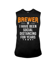 BREWER I HAVE BEEN SOCIAL DISTANCING FOR YEARS Sleeveless Tee thumbnail