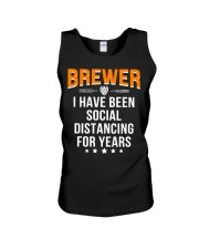 BREWER I HAVE BEEN SOCIAL DISTANCING FOR YEARS Unisex Tank thumbnail