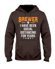 BREWER I HAVE BEEN SOCIAL DISTANCING FOR YEARS Hooded Sweatshirt thumbnail