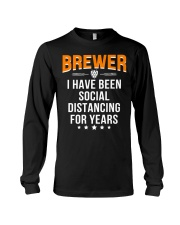 BREWER I HAVE BEEN SOCIAL DISTANCING FOR YEARS Long Sleeve Tee thumbnail