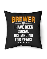 """BREWER I HAVE BEEN SOCIAL DISTANCING FOR YEARS Indoor Pillow - 16"""" x 16"""" thumbnail"""