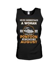 PONTOON BOAT GIFT - AUGUST PONTOON WOMAN Unisex Tank thumbnail