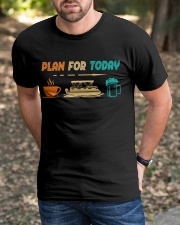 PONTOON BOAT GIFT - PONTOON PLAN FOR TODAY Classic T-Shirt apparel-classic-tshirt-lifestyle-front-52