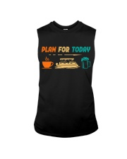 PONTOON BOAT GIFT - PONTOON PLAN FOR TODAY Sleeveless Tee thumbnail
