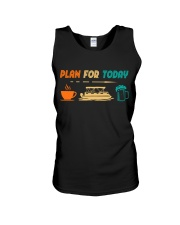 PONTOON BOAT GIFT - PONTOON PLAN FOR TODAY Unisex Tank thumbnail