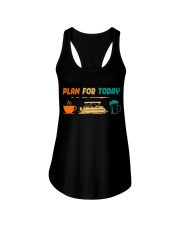 PONTOON BOAT GIFT - PONTOON PLAN FOR TODAY Ladies Flowy Tank thumbnail