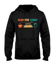 PONTOON BOAT GIFT - PONTOON PLAN FOR TODAY Hooded Sweatshirt thumbnail